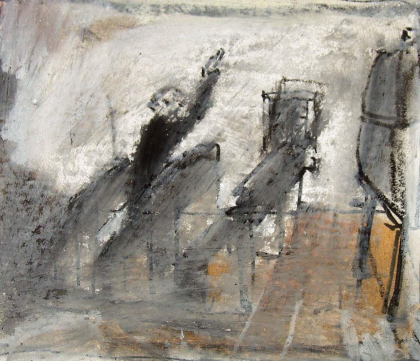 """Z cyklu """"Klasa szkolna"""" - Dzieło Zamknięte, 1983, pastel, flamaster, akryl, papier, zbiory prywatne (źródło: materiały prasowe organizatora)"""
