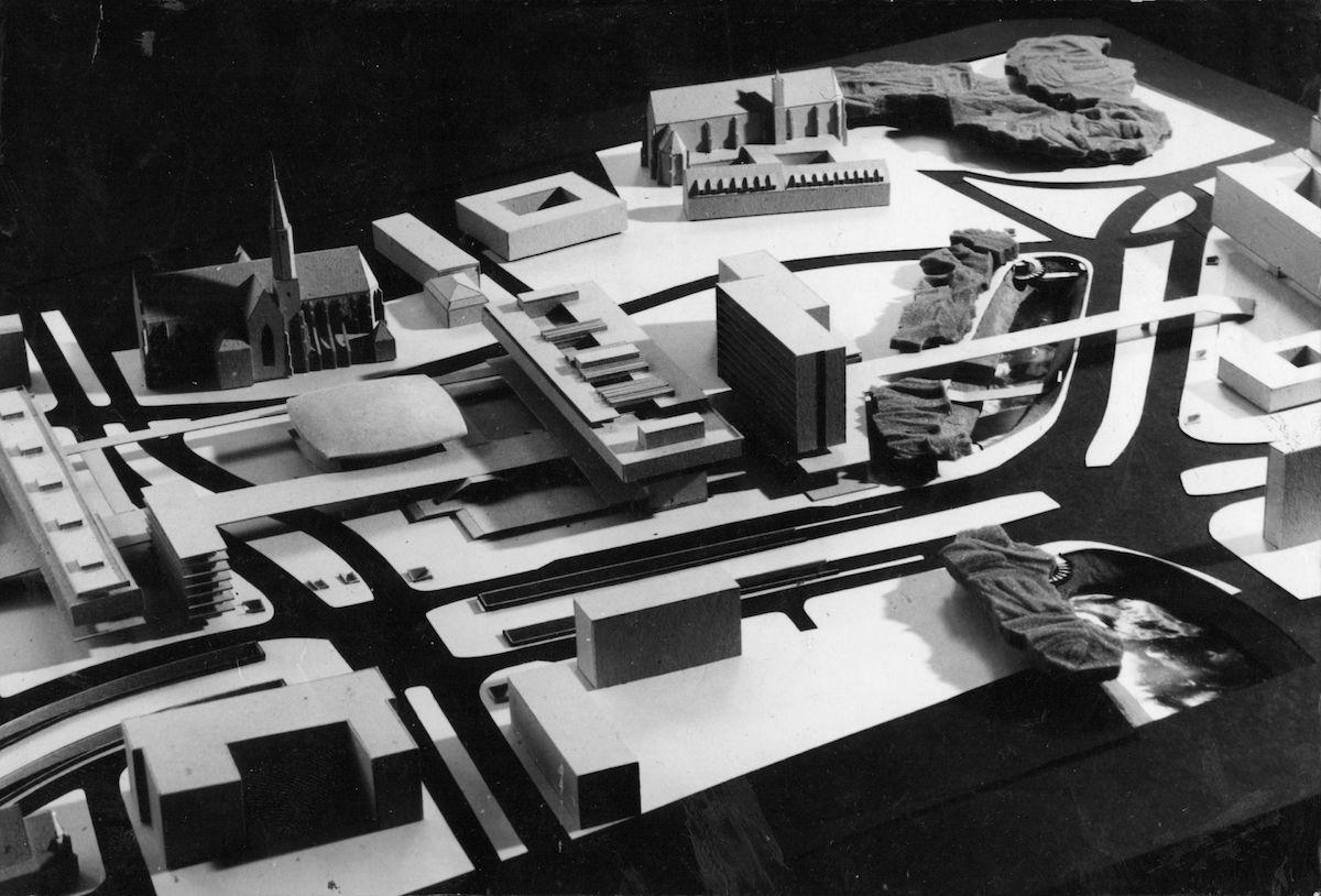 Zenon Prętczyński, Plac Dominikański, projekt konkursowy, makieta, 1972 (źródło: materiały prasowe organizatora)