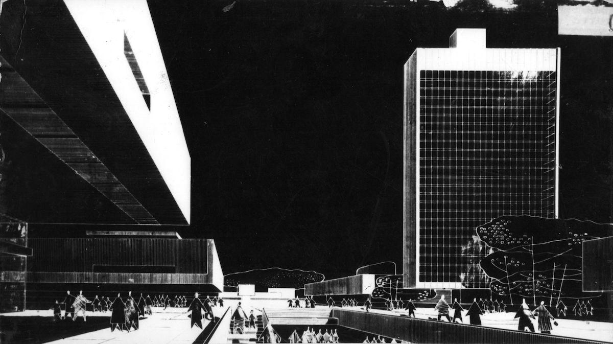 Zenon Prętczyński, Plac Społeczny, projekt konkursowy, 1964, Wrocław (źródło: materiały prasowe organizatora)