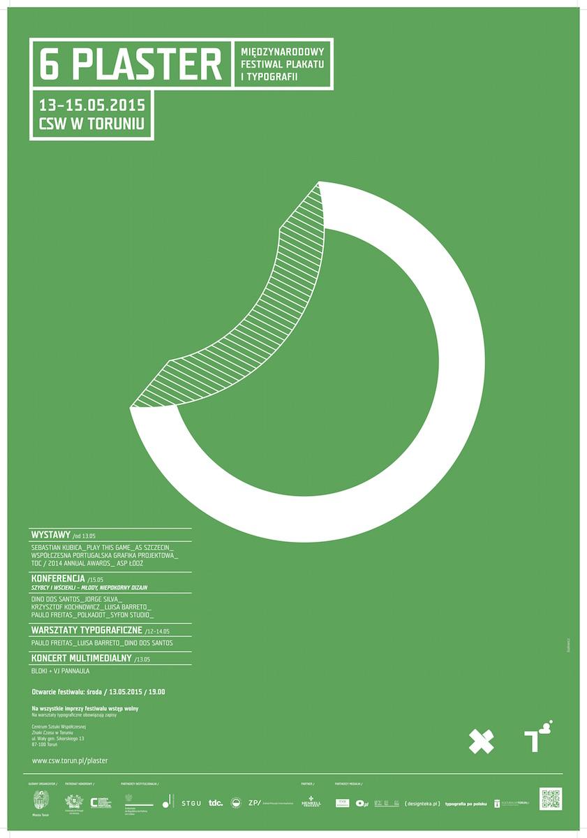 6. PLASTER Międzynarodowy Festiwal Plakatu i Typografii, plakat autorstwa Krzysztofa Białowicza (źródło: materiały prasowe organizatora)