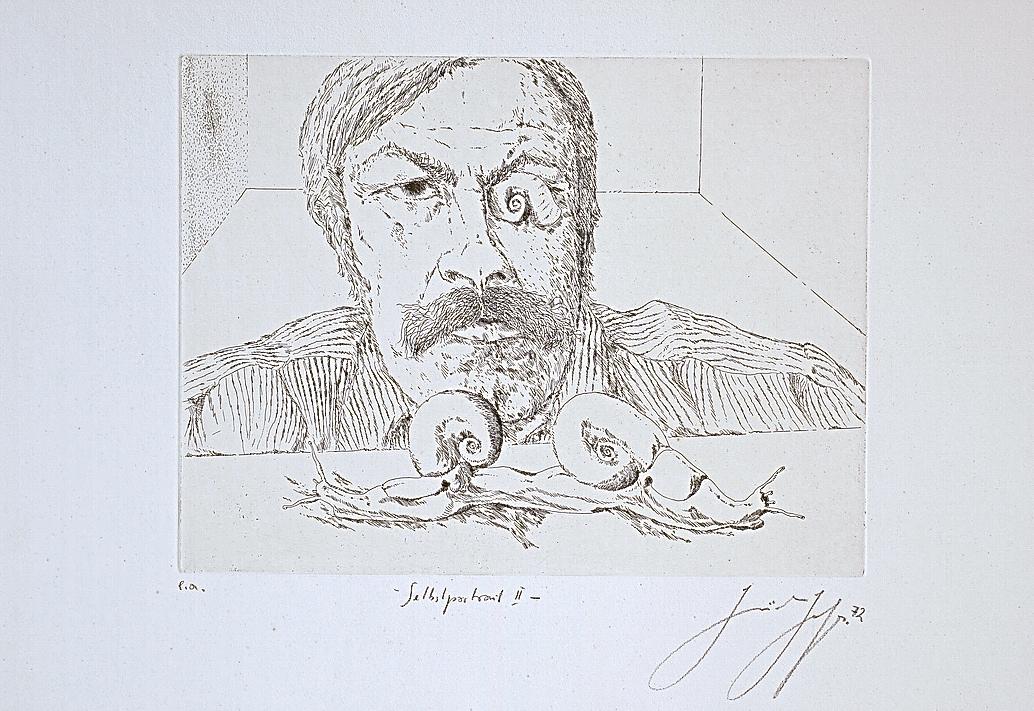 """Günter Grass, """"Autoportret II"""" (źródło: materiały prasowe organizatora)"""