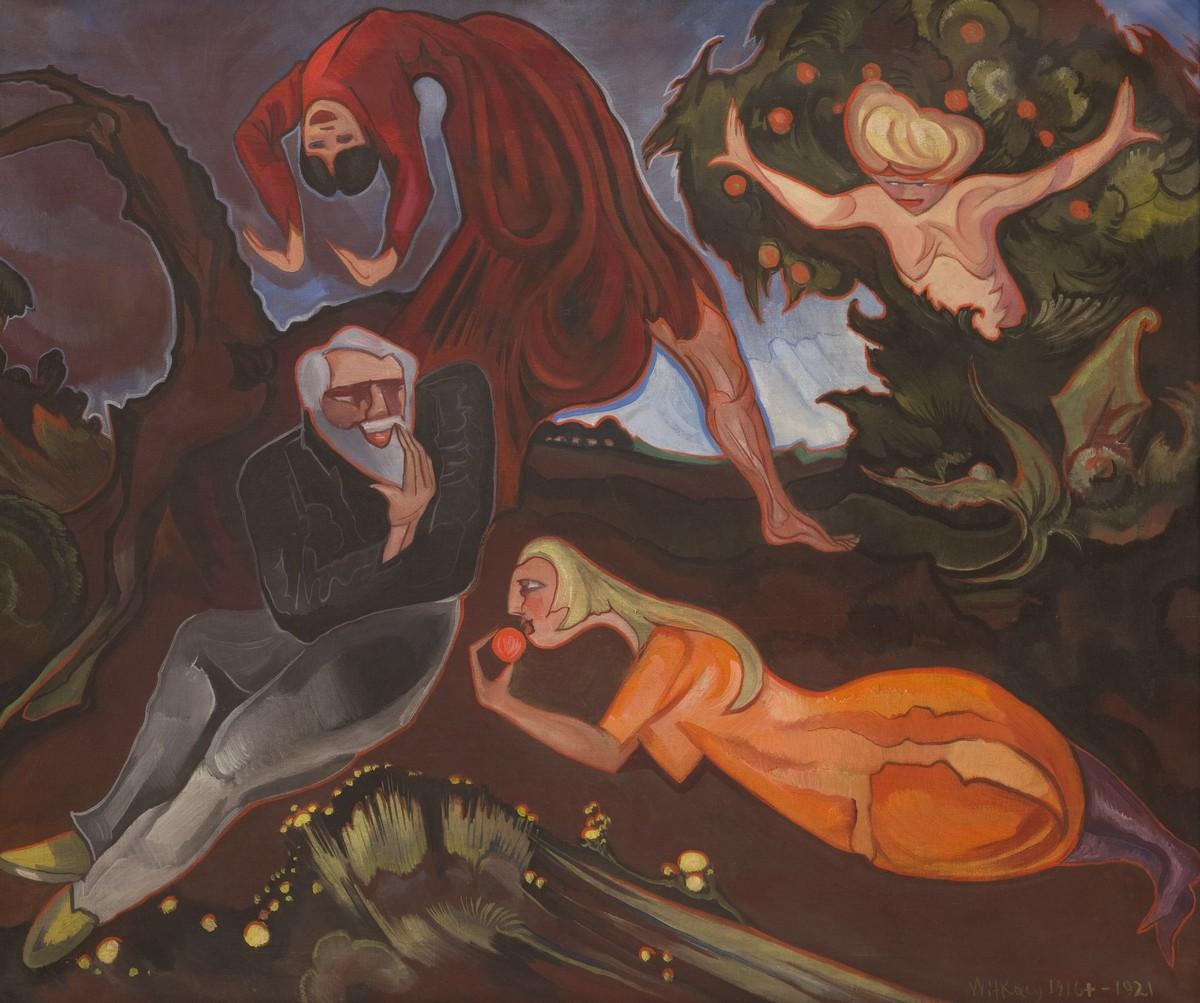 Kuszenie św. Antoniego, Olej na płótnie, 74,5 x 90 cm, z kolekcji Muzeum Narodowego w Krakowie, fot. Muzeum Narodowe w Krakowie (źródło: materiały prasowe)