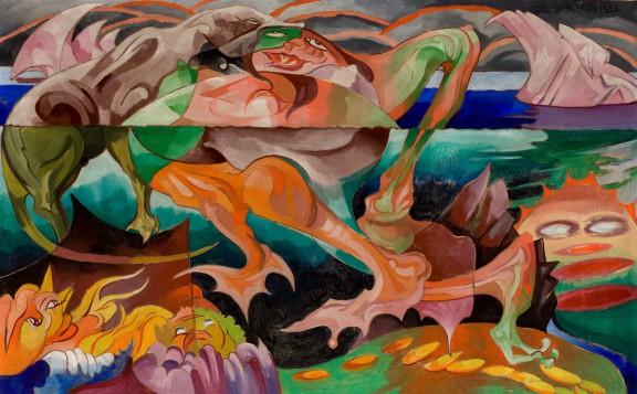 Topielice, 1921, Olej na płótnie, 56,5 x 90 cm, z kolekcji Muzeum Narodowego w Krakowie, fot. Muzeum Narodowe w Krakowie (źródło: materiały prasowe)