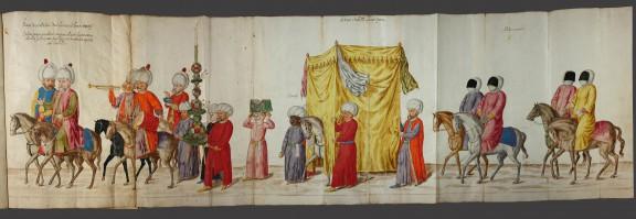 """Lambert de Vos, """"Ślubny orszak tureck""""i, 1573–1574, Biblioteka Miejska i Uniwersytecka, Brema (źródło: materiały prasowe)"""