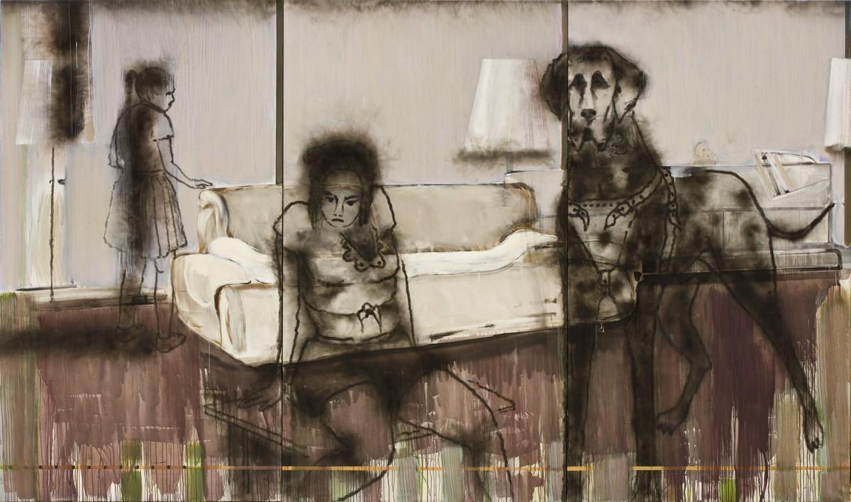 "Jonas Gasiūnas, ""Three lamps in an interior and blind Red Riding Hood"" (źródło: materiały prasowe)"