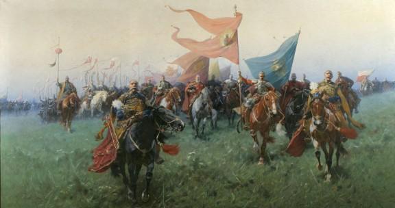 """Józef Brandt, """"Bogurodzica"""", 1909, wł. Muzeum Narodowego we Wrocławiu, fot. Arkadiusz Podstawka (źródło: materiały prasowe)"""