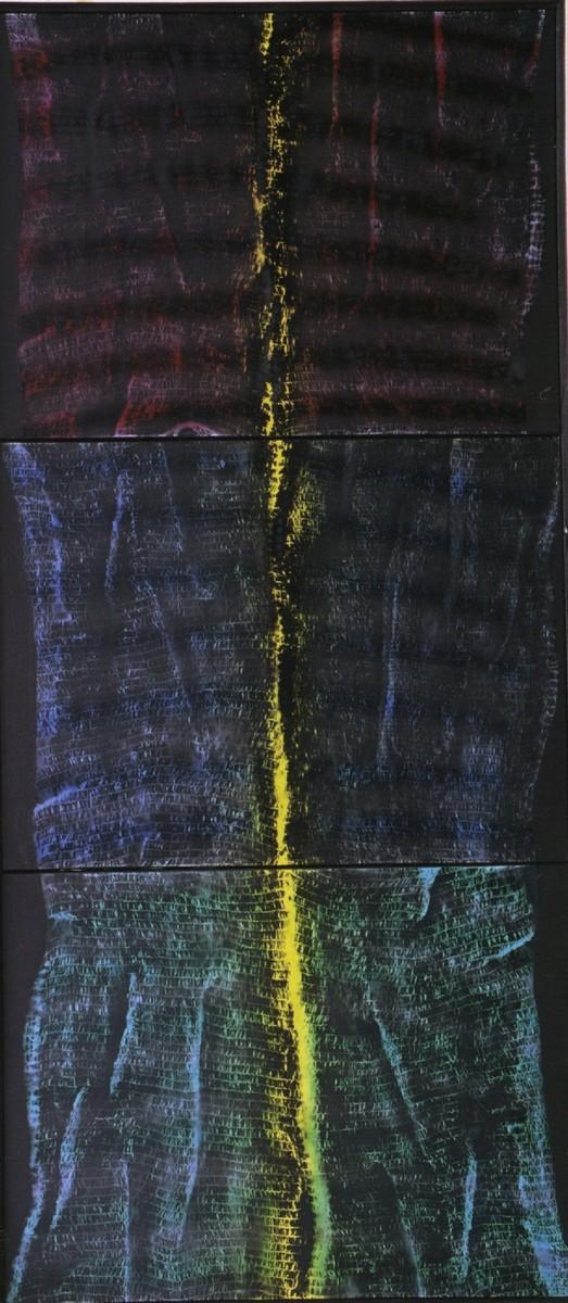 """Piotr Błażejewski, cykl """"Refelksy-je"""" IV, 2002 (źródło: materiały prasowe Galerii Stalowa)"""