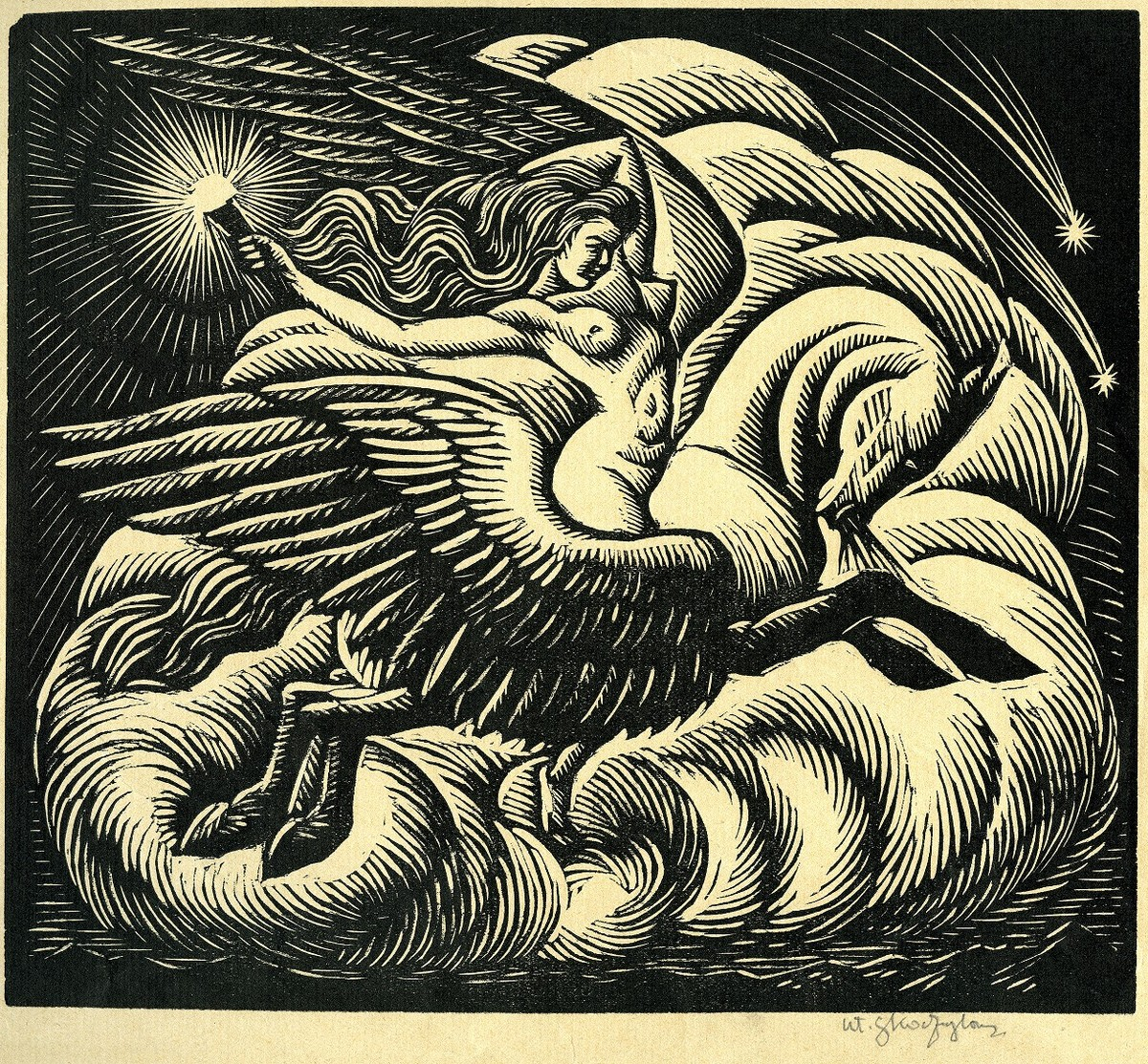 """Władysław Skoczylas, """"Jutrzenka"""", 1920, Muzeum ASP w Warszawie (źródło: materiały prasowe)"""