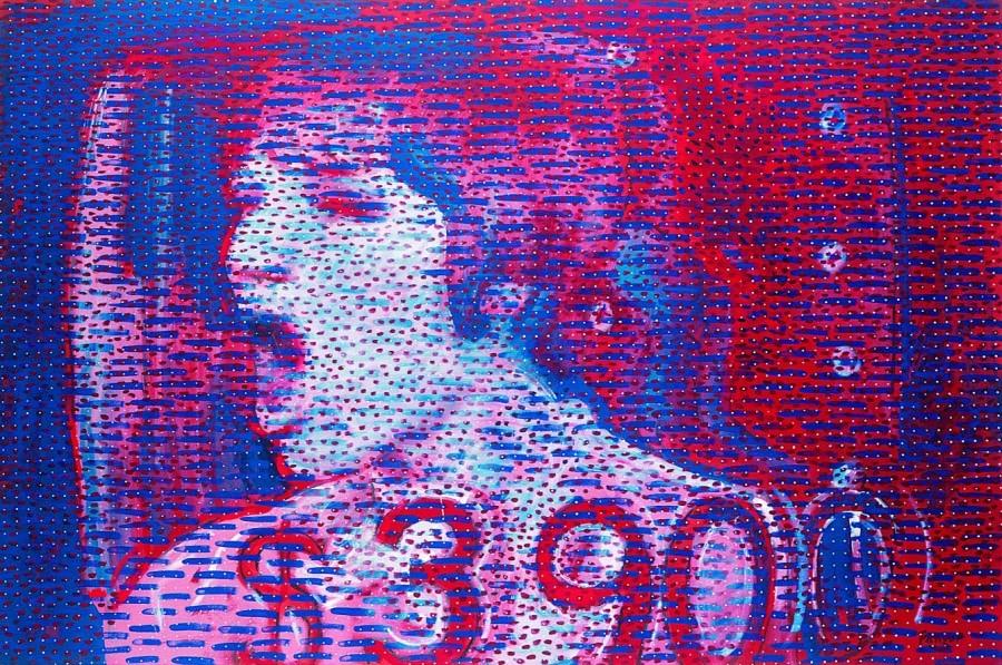 Wojciech Fangor, $3900, 1982, olej, płótno, 142x213 cm (źródło: materiały prasowe organizatora)