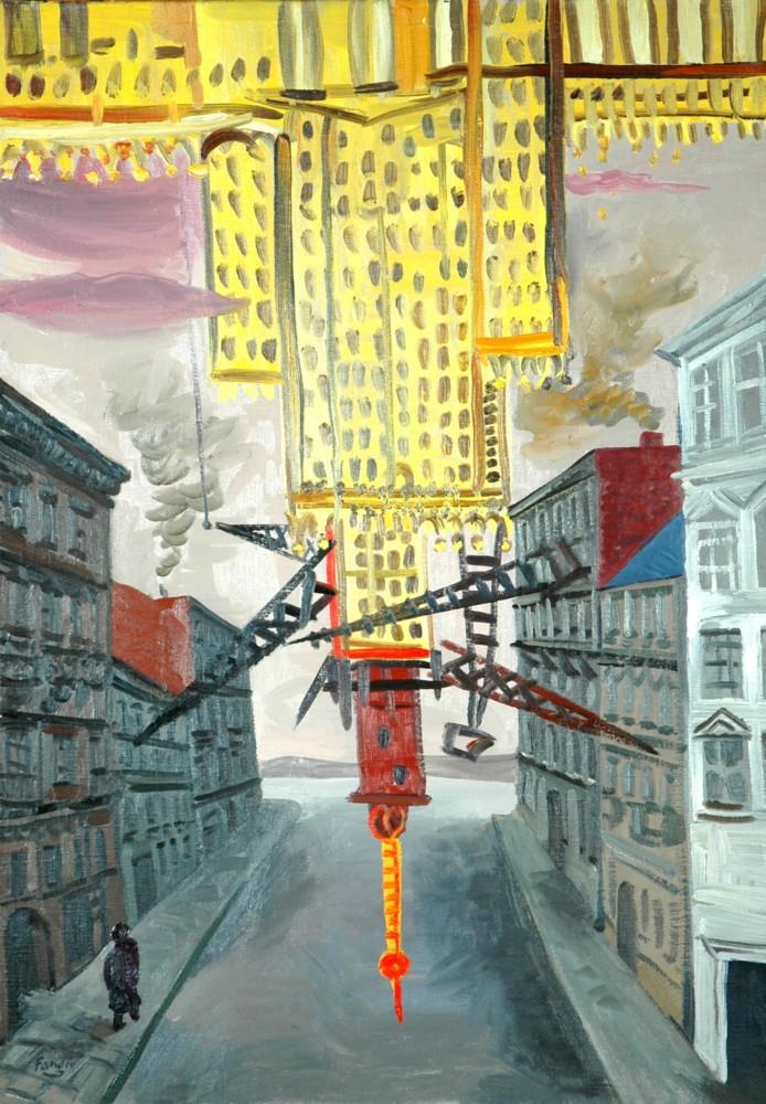 Wojciech Fangor, Pałac Kultury, 1953, 97,5x67,5 (źródło: materiały prasowe organizatora)