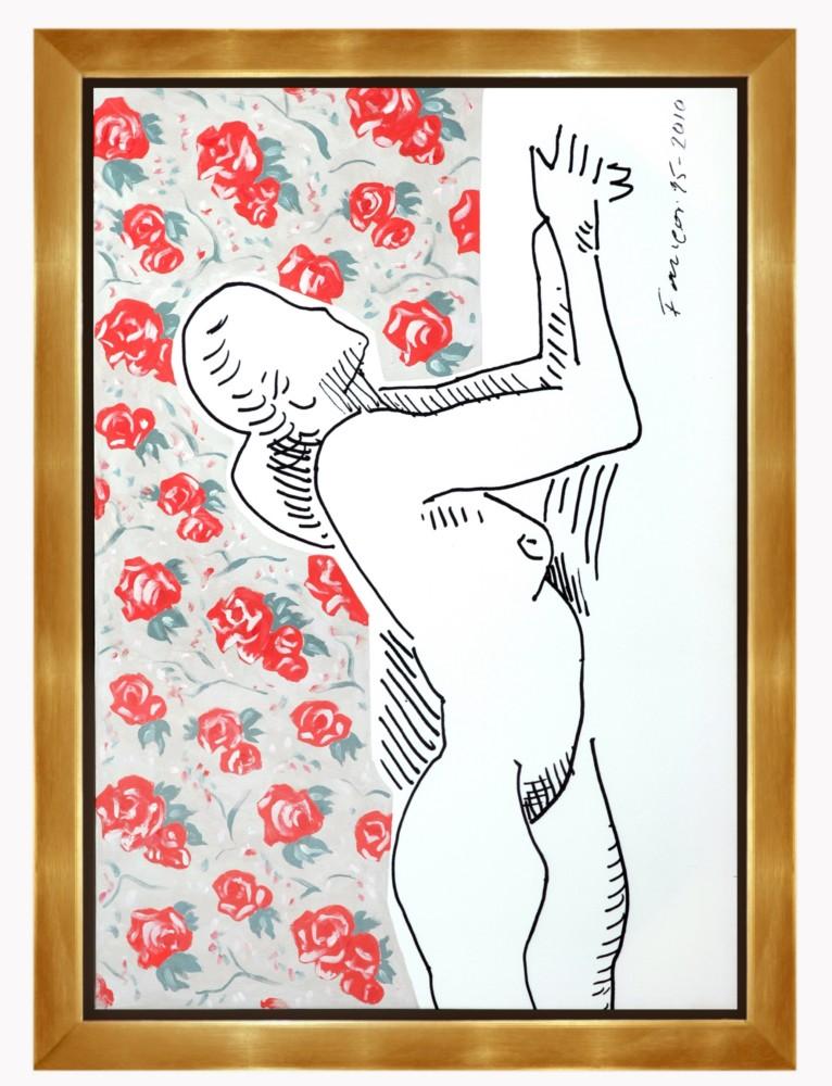 Wojciech Fangor, Akt z różą, 1995, 85x120 cm (źródło: materiały prasowe organizatora)