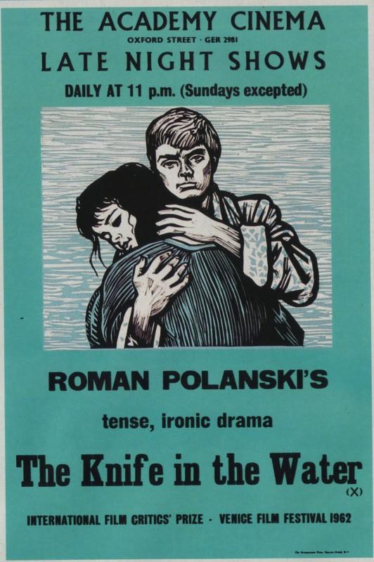 """""""Nóż w wodzie"""", plakat (źródło: materiały prasowe)"""