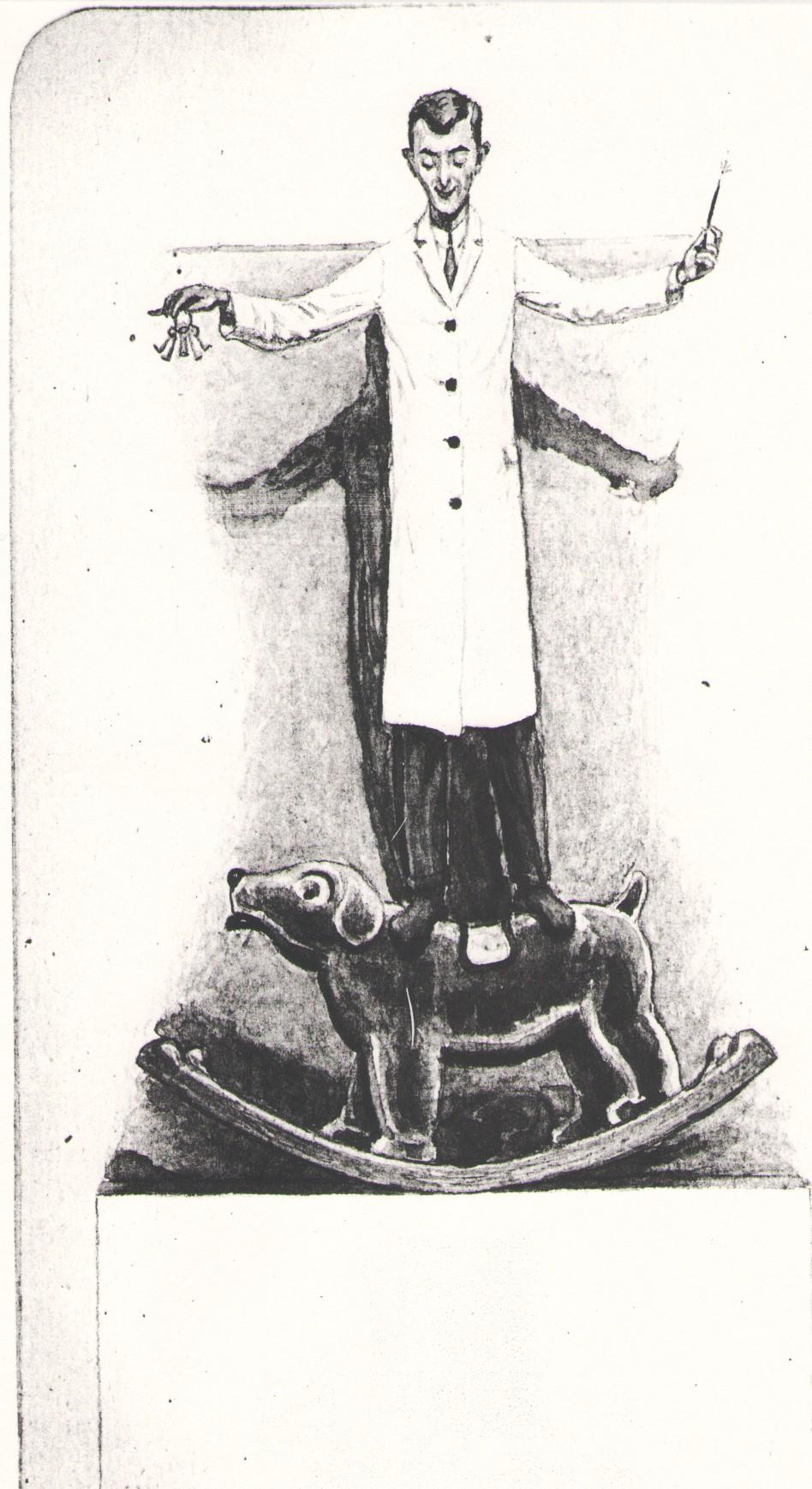 """Praca z wystawy """"Dlaczego malują? Twórczość chorych psychicznie ze zbiorów dr. Andrzeja Janickiego"""", autor anonimowy (źródło: materiały prasowe organizatora)"""