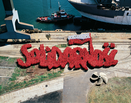 """Piotr Uklański, """"Bez tytułu (Solidarność""""), 2007 (źródło: materiały prasowe organizatora)"""