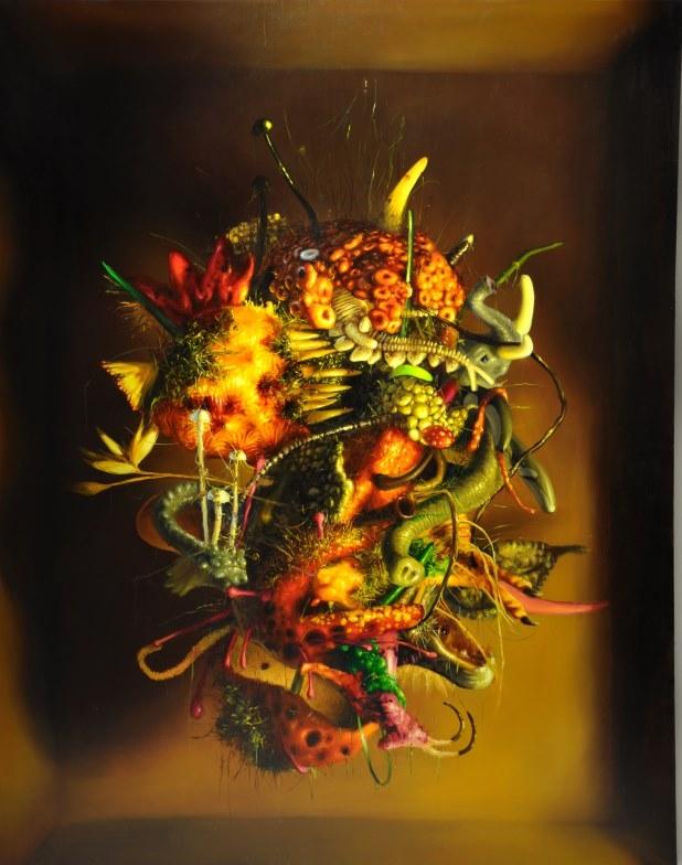 """Marcin Zawicki z cyklu """"Sporysz"""", olej na płótnie, 160 x 200 cm, 2015 (źródło: materiały prasowe)"""
