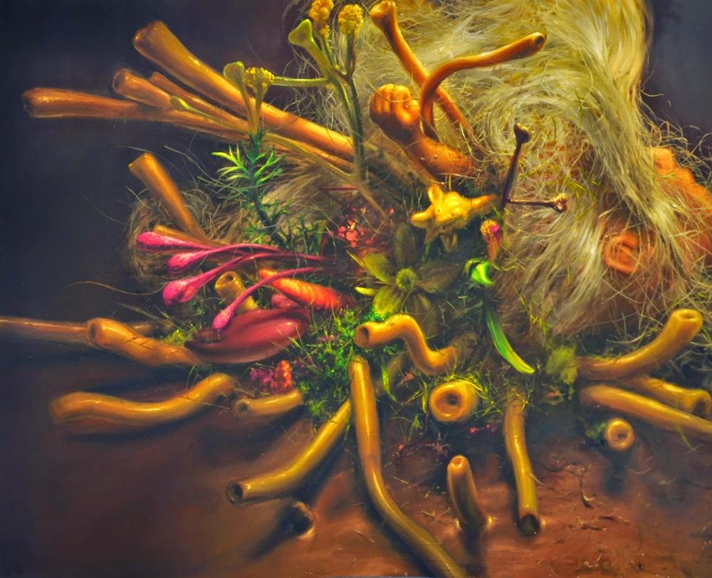 """Marcin Zawicki z cyklu """"Sporysz"""", olej na płótnie, 110 x 140 cm, 2015 (źródło: materiały prasowe)"""