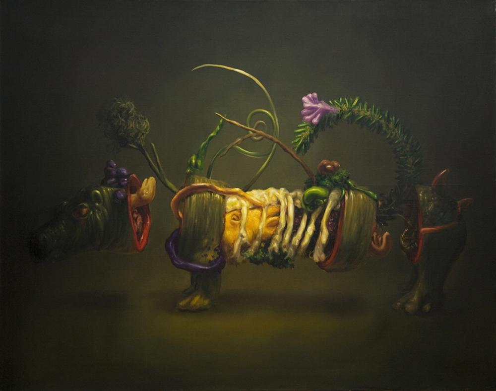 """Marcin Zawicki z cyklu """"The Fall"""", olej na płótnie, 110 x 140 cm, 2012 (źródło: materiały prasowe)"""