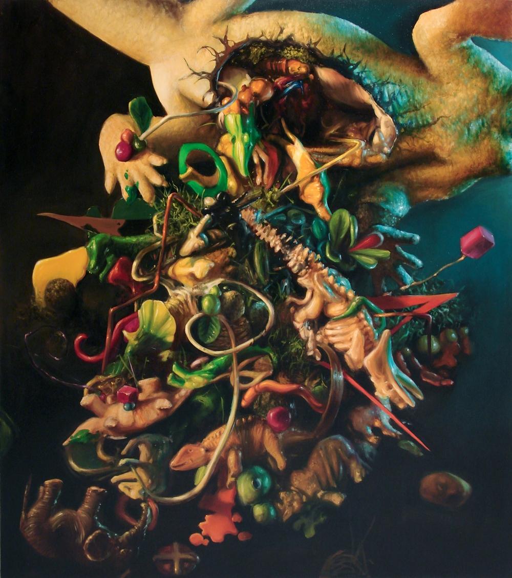 """Marcin Zawicki z cyklu """"The Fall"""", olej na płótnie, 130 x 150 cm, 2012 (źródło: materiały prasowe)"""