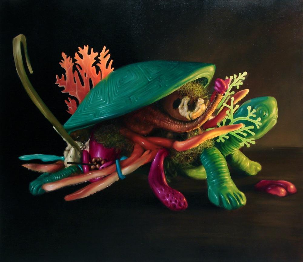 """Marcin Zawicki z cyklu """"The Fall"""", olej na płótnie, 140 x 160 cm, 2012 (źródło: materiały prasowe)"""
