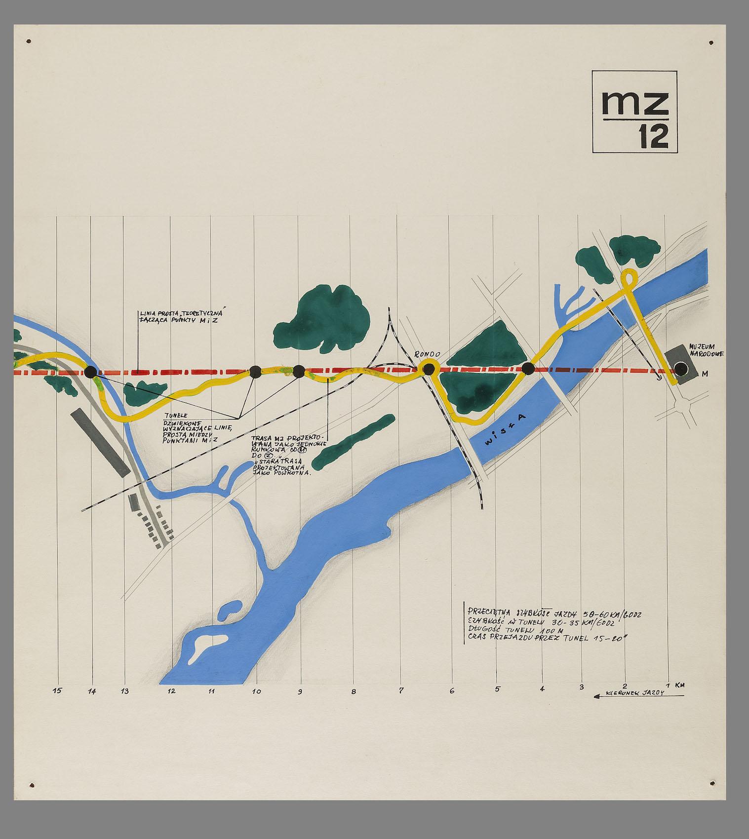 """Jerzy Derkowski, Janusz Mulak, Elżbieta Sikora-Rogulska – """"Propozycje zagospodarowania Trasy Muzeum – Zalew Zegrzyński"""", 1971 (źródło: materiały prasowe organizatora)"""
