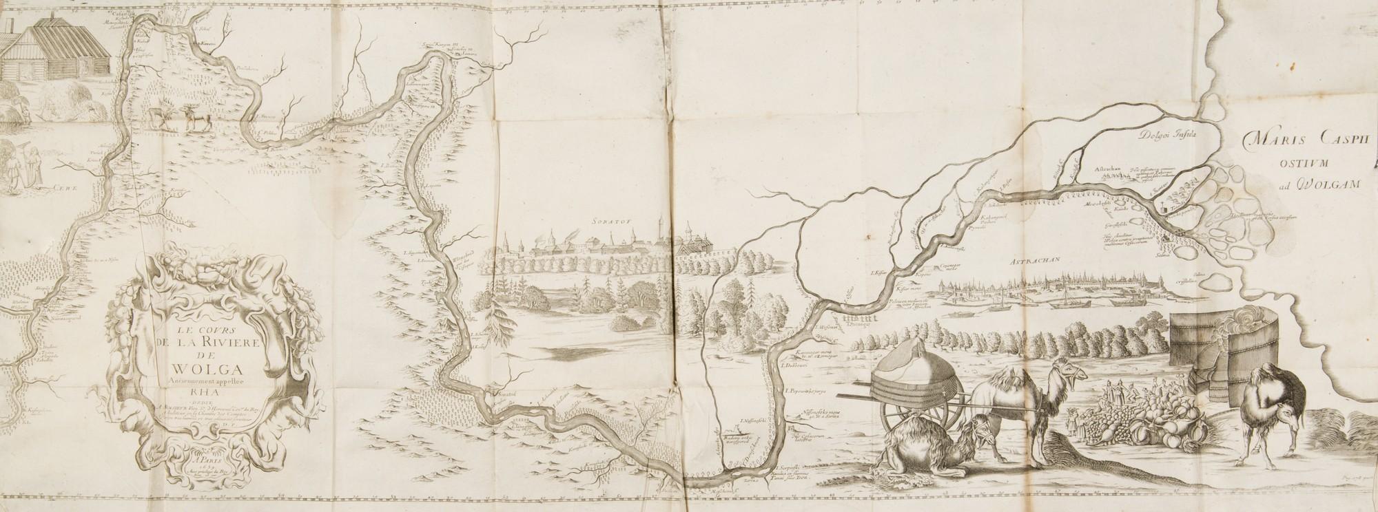 Adam Olearius, Relation Du Voyage D'Adam Olearius En Moscovie, Tartarie, Et Perse, A Paris, 1679 – mapa Wołgi, fot. MNK (źródło: materiały prasowe organizatora)