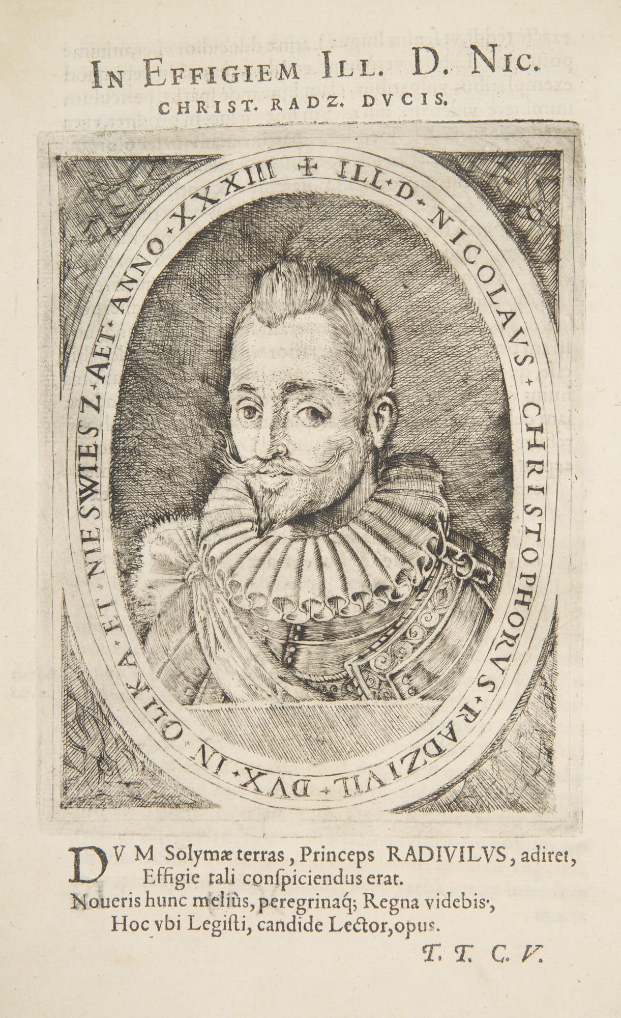 M.K. Radziwiłł, Hierosolymitana peregrinatio. Brunsberg, 1601 – portret Mikołaja Krzysztofa Radziwiłła, miedzioryt, fot. MNK (źródło: materiały prasowe organizatora)