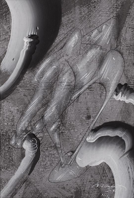 """Vít Ondráček z cyklu """"Czarna tęcza"""", akryl na papierze, 1995-1996 (źródło: materiały prasowe)"""