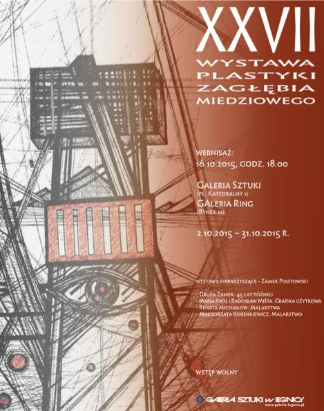 27. Wystawa Plastyki Zagłębia Miedziowego, plakat (źródło: materiały prasowe organizatora)