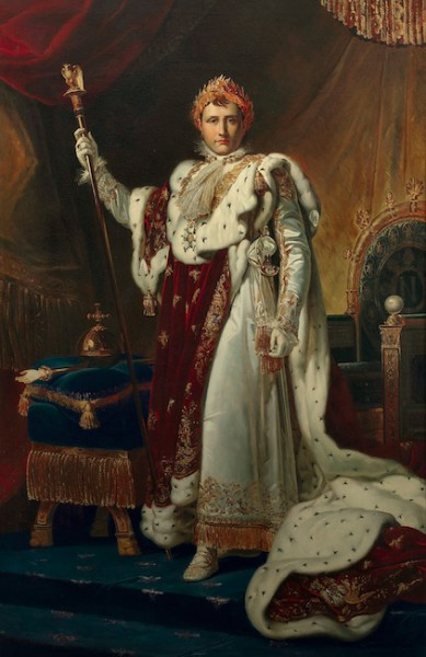 "Pracownia François Pascala Simona Gérarda, ""Napoleon I w stroju koronacyjnym"", Musée national du château, fot. © Réunion des musées nationaux – Grand Palais (Château de Fontainebleau) / Gérard Blot (źródło: materiały prasowe organizatora)"