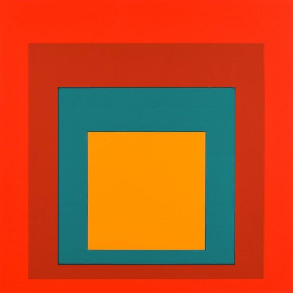 Josef Albers, Studium do Hommage to the Square, 1954-1998, serigrafia, 99,5 x 100 cm, Kolekcja CGII – inv. OE 2796 ©The Josef and Anni Albers Foundation / VG Bild-Kunst, Bonn 2015 (źródło: materiały pasowe)