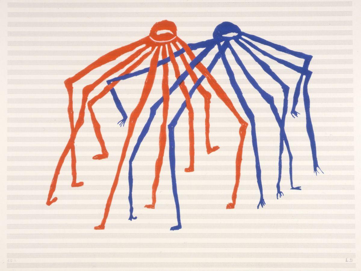 Louis Bourgeois, Jitterburg, 1998, litografia, SI 1, 46 x 61 cm, Kolekcja Miasta La Louvière, depozyt CGII – inv. OE 958 © Louise Bourgeois (źródło: materiały prasowe)