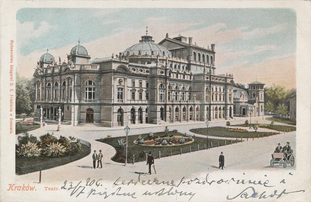 Budynek Teatru Miejskiego w Krakowie, autor nieznany, Kraków, 1906, wł. MHK (źródło: materiały prasowe)