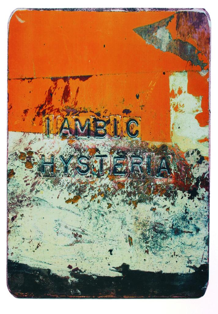 """Briar Craig, Kanada, """"Jambiczna hysteria"""", serigrafia, 2012 (źródło: materiały prasowe organizatora)"""