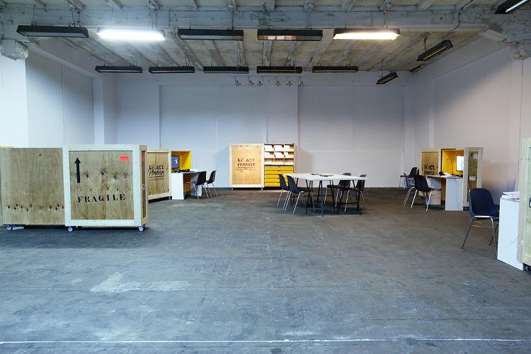 """Wystawa """"re.act.feminism #2 Performatywne Archiwum"""", 2012, budynek IS Wyspa (źródło: materiały prasowe organizatora)"""