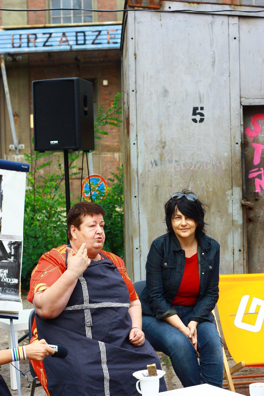 """""""Obóz Solidraność"""", 2011, Spotkanie z Henryką Krzywonos, fot. Marta Szymańska (źródło: materiały prasowe organizatora)"""