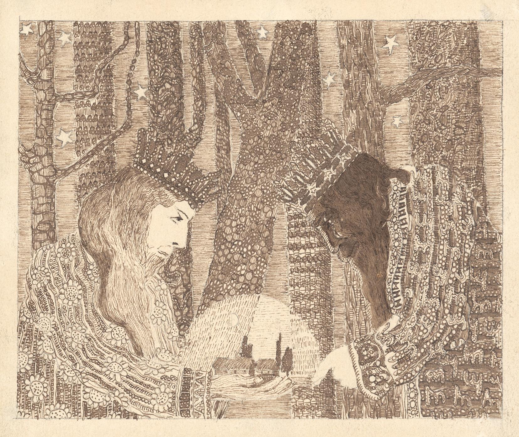 """M.K. Čiurlionis, """"Bajka (Bajka królewska)"""", 1908, zbiory Narodowego Muzeum Sztuki M.K. Čiurlionisa w Kownie (źródło: materiały prasowe)"""