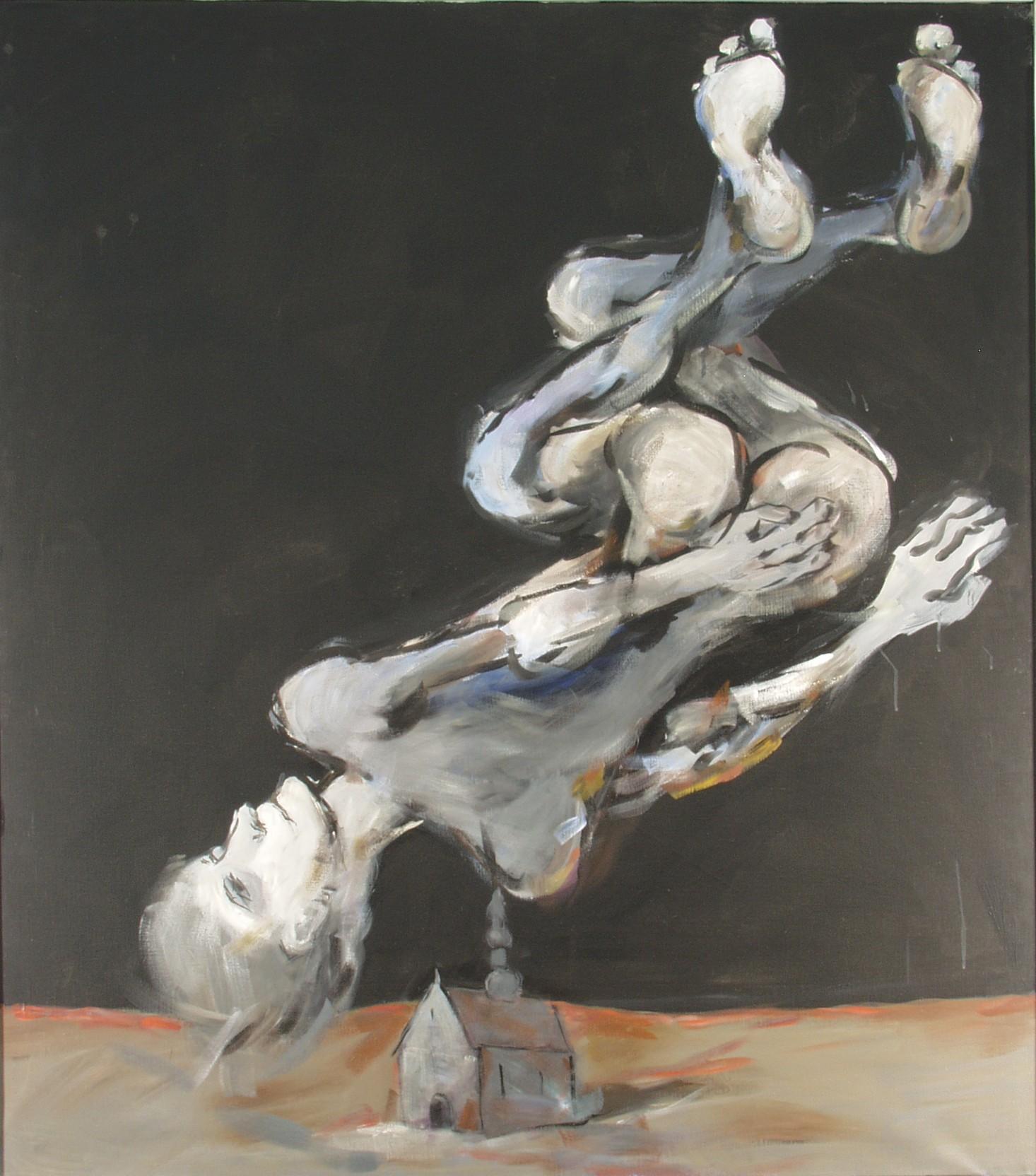 """Tadeusz Kantor, """"Cholernie spadam!"""", 1988 (źródło: materiały prasowe organizatora)"""