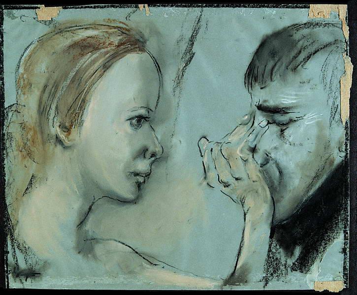"Tadeusz Kantor, ""Thanatos d'après Malczewski"", ok. lat 80. (źródło: materiały prasowe organizatora)"