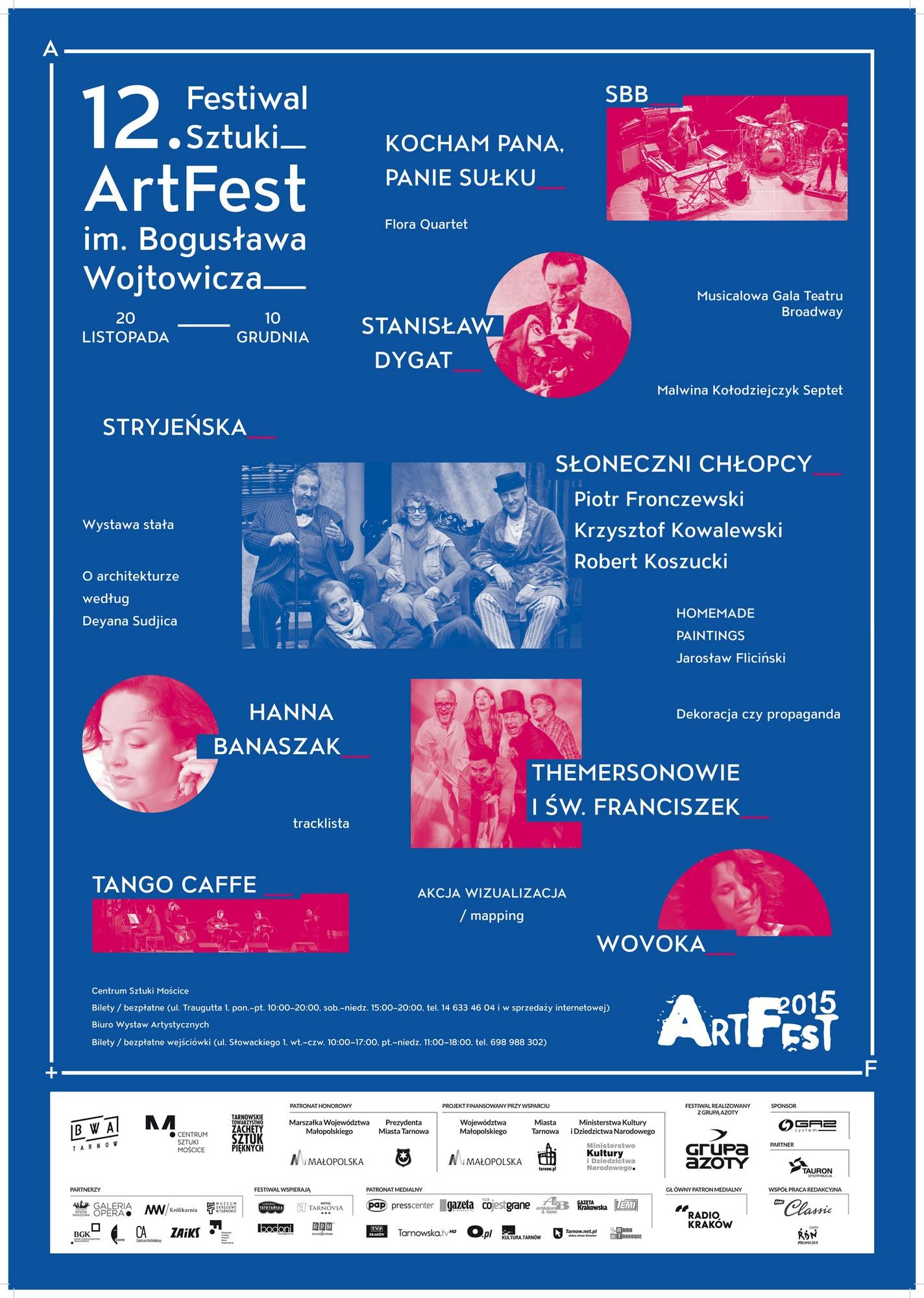 12. Festiwal Sztuki ArtFest – plakat (źródło: materiały prasowe)