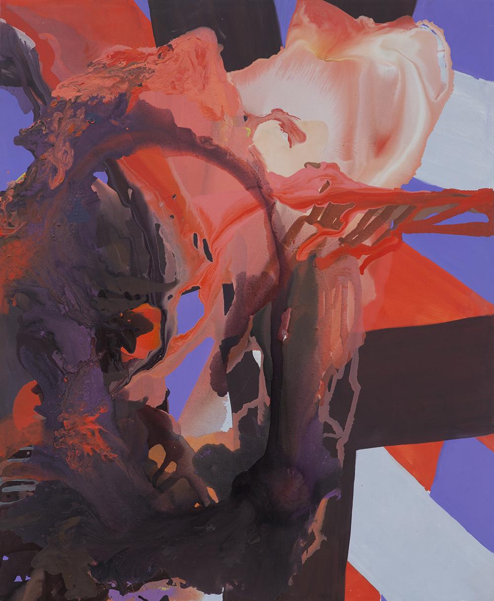 """Jarosław Fliciński, """"Everything is here and now what?"""", 2012, 192 x 157,5 cm, akryl na płótnie; Esteval (źródło: materiały prasowe)"""