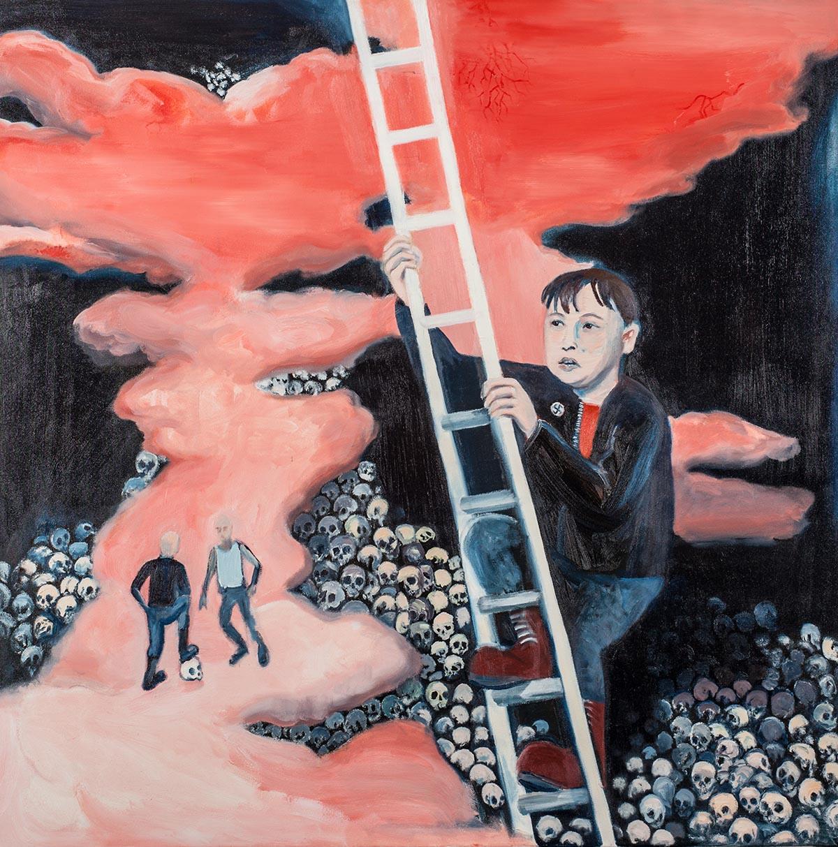 """Michał Gątarek, """"Deliryczne wniebowstąpienie"""", 2013, II Nagroda – Marszałka Województwa Śląskiego (źródło: materiały prasowe organizatora)"""