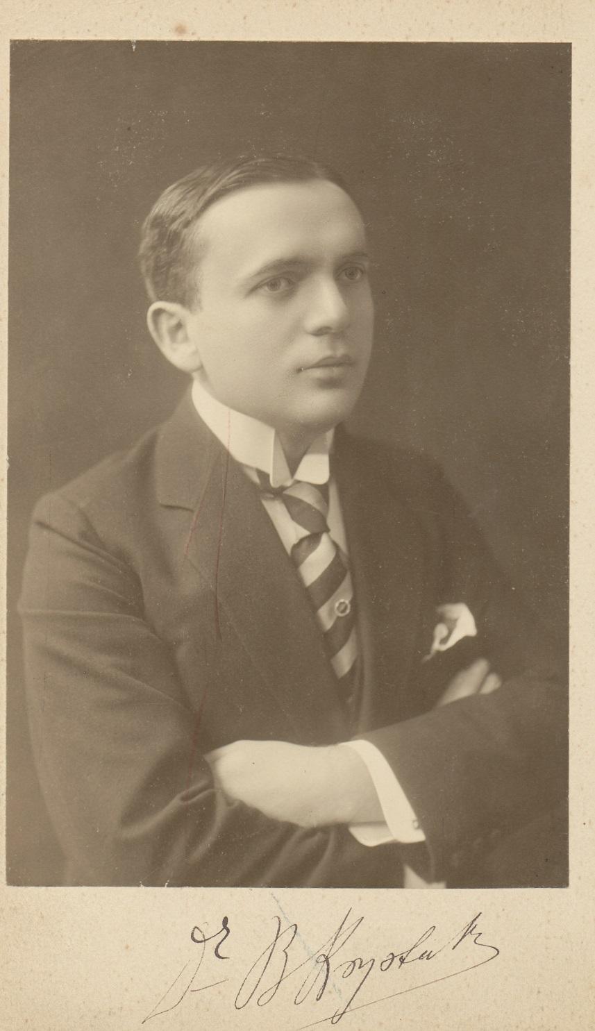 Bronisław Krystall w 1912 roku, autor nieznany, fotografia, Muzeum Narodowe w Warszawie (źródło: materiały prasowe)