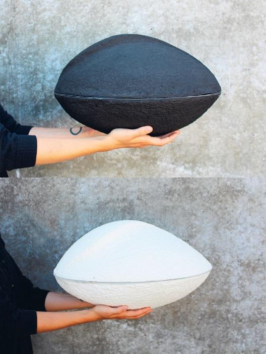 Joanna Jurga, NURN. Biodegradowalna urna wraz z nową ceremonią pochówku na morzu, Wydział Wzornictwa (źródło: materiały prasowe)