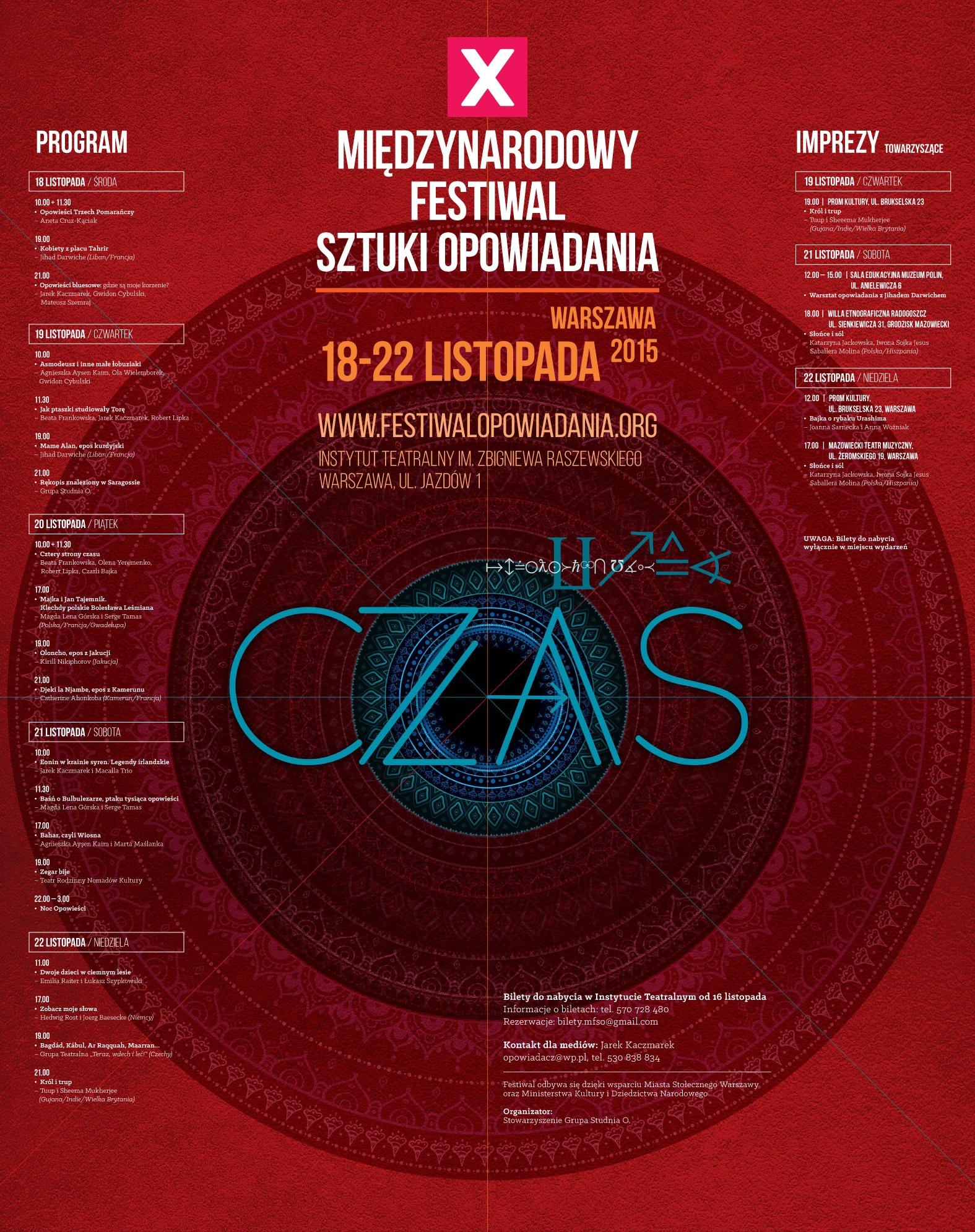 10. Międzynarodowy Festiwal Sztuki Opowiadania – plakat (źródło: materiały prasowe organizatora)
