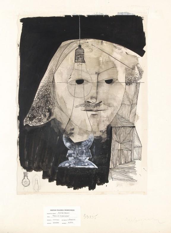 """Marian Bogusz, """"Portret Rembrandta"""", 1956, własność Muzeum Pomorza Środkowego w Słupsku (źródło: materiały prasowe organizatora)"""