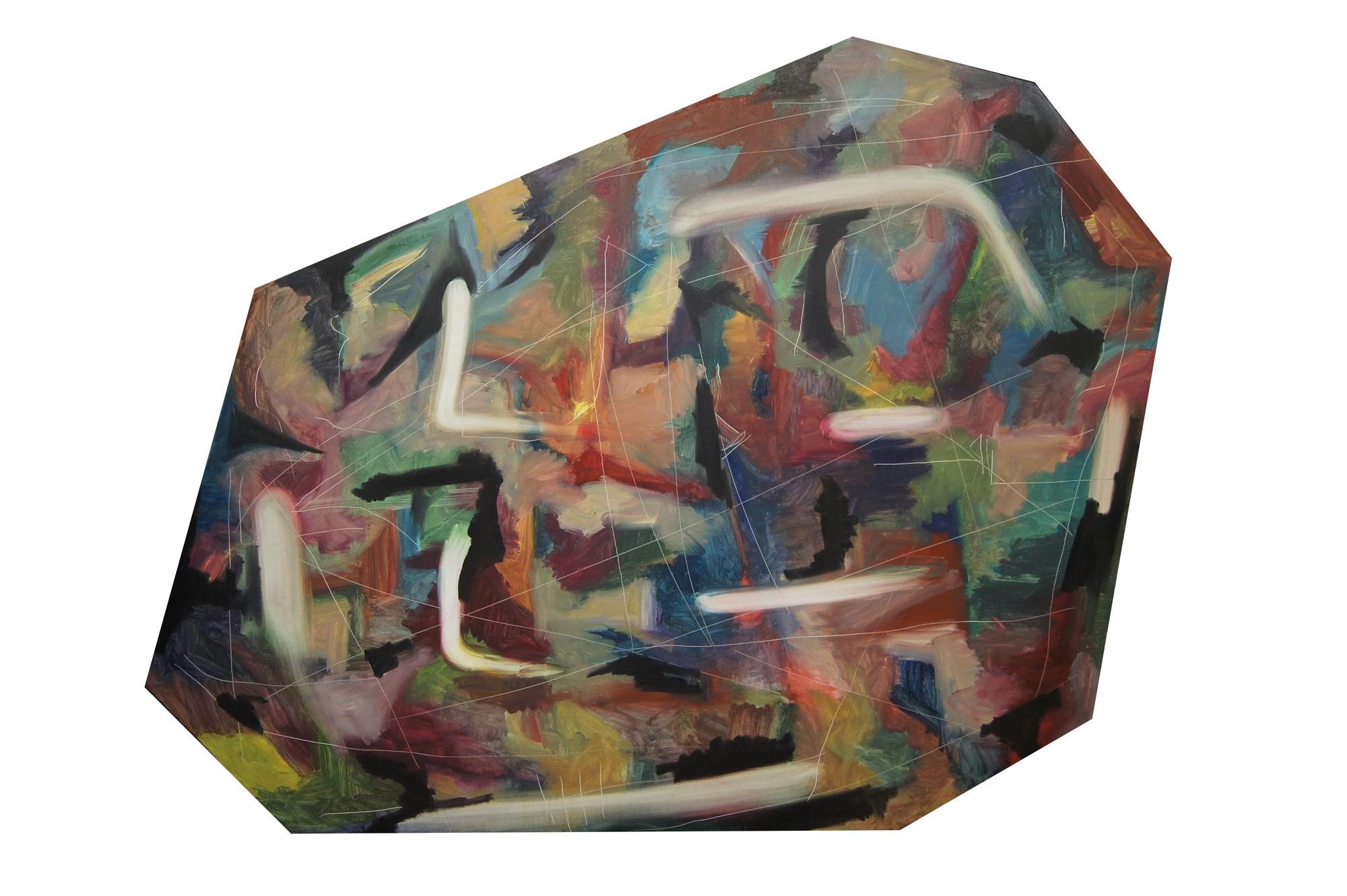 """Ziemowit Fincek, """"Kwiaty we włosach"""", 172x114 cm, olej na płótnie, 2014 (źródło: materiały prasowe)"""