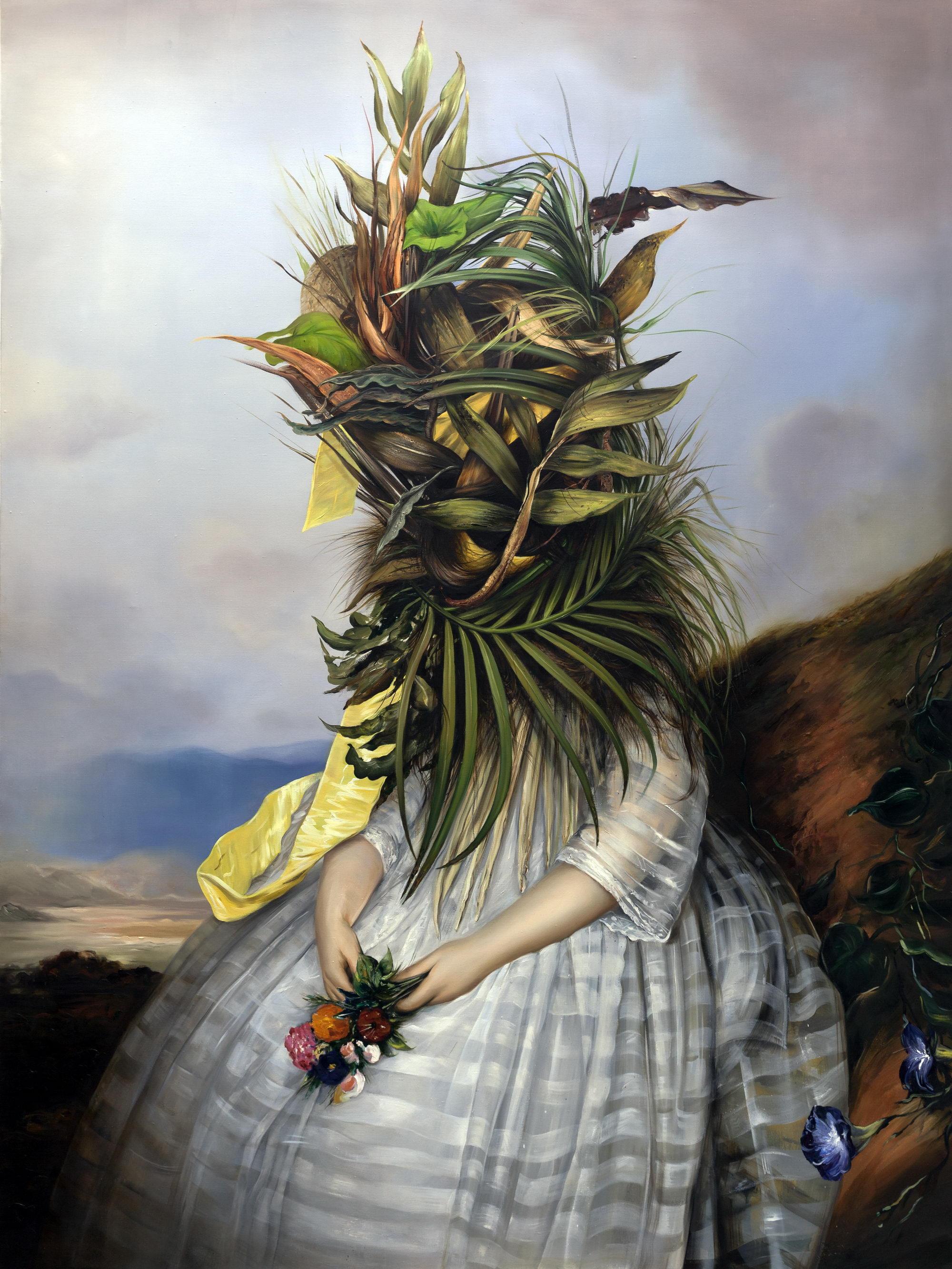 """Ewa Juszkiewicz, """"Spoczynek"""", 2015, 180x125 cm, olej na płótnie (źródło: materiały prasowe)"""