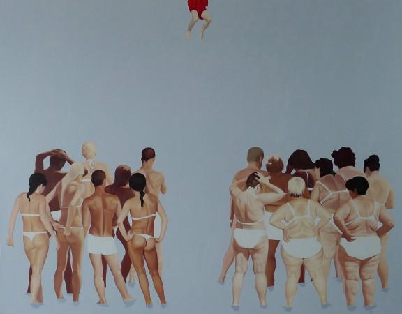 """Julita Malinowska, """"Sąd Ostateczny II"""", 2011, 200x255 cm, olej na płótnie (źródło: materiały prasowe)"""
