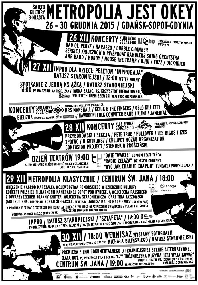 """""""Metropolia jest OKEY 2016"""" − afisz (źródło: materiały prasowe organizatora)"""