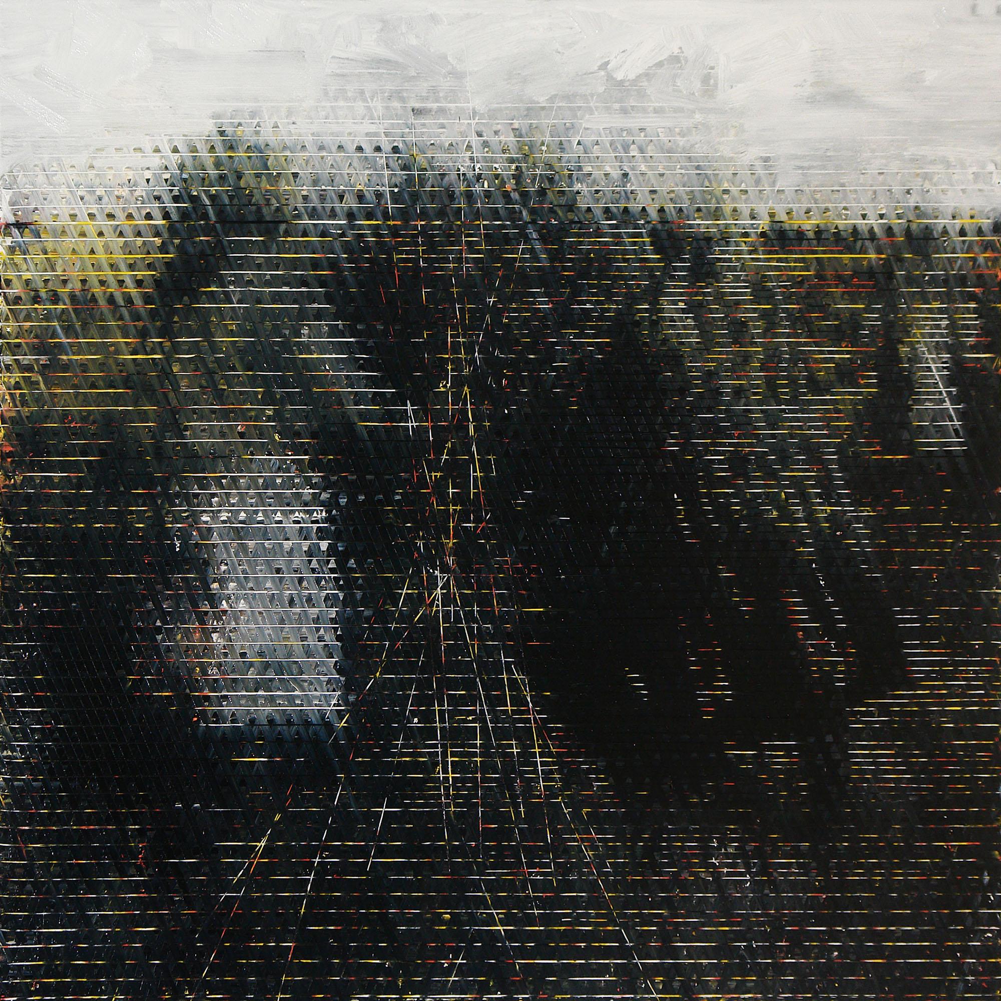 """Bartosz Czernecki, """"W polu III"""", 2015, 120x120 cm, olej na płótnie (źródło: materiały prasowe)"""